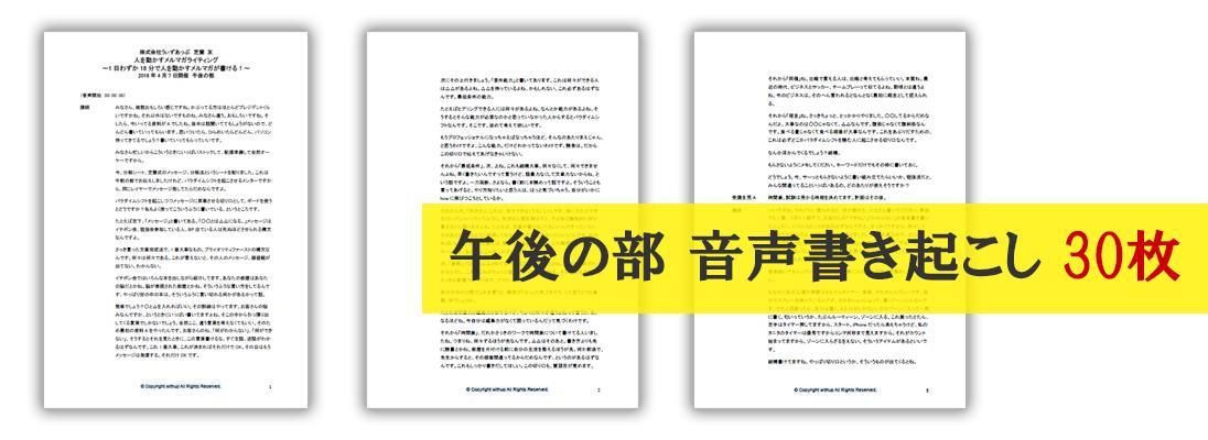 午後の部音声書き起こし(PDF30枚)
